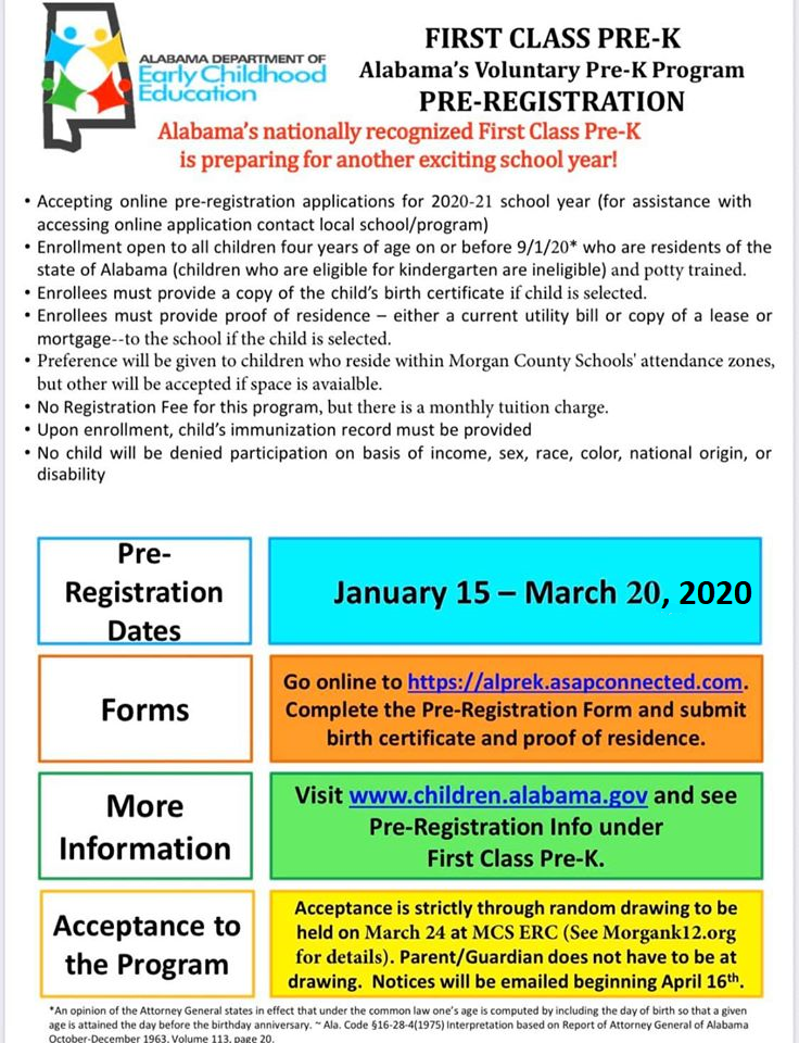 2020-2021 PreK Pre-Registration is Online