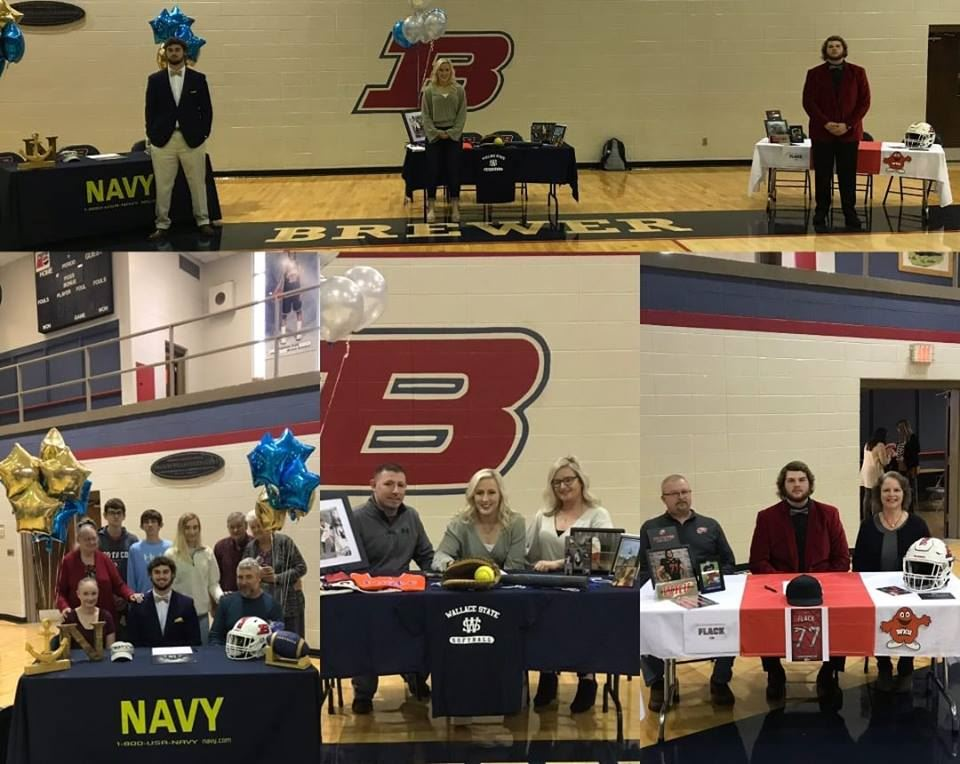 Congratulations to Madisen Adams, Hunter Youngblood, and Jordan Flack for signing scholarships