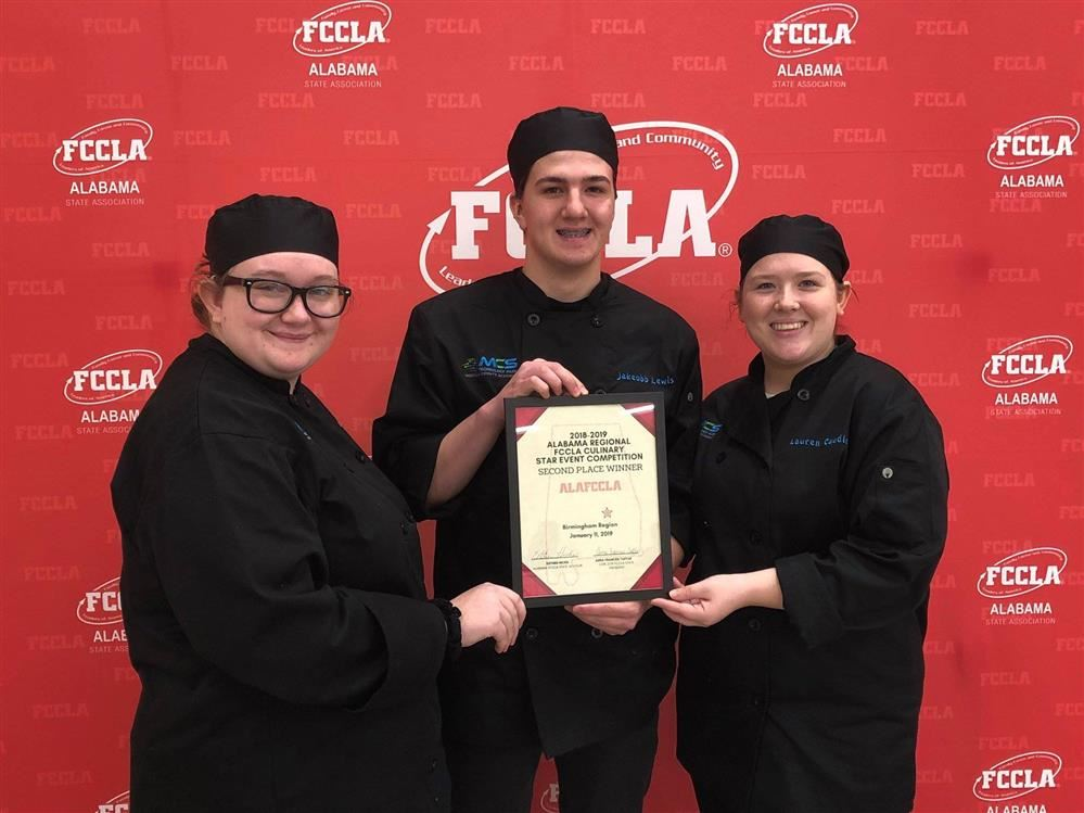 Congratulations to Culinary students who advanced to State.  Alana Bates, Jakeobb Lewis and Lauren Caudle